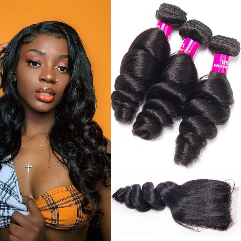 Loose Wave Hair with Closure,Loose Wave Bundles Closure,Loose Wave With Closure,Brazilian Hair Loose Wave Bundles,Loose Wave Closure With Bundles,Loose Wave Bundles,Brazilian Loose Wave Bundles,Brazilian Hair Closure Bundles Deal,Loose Wave Bundles with Closure