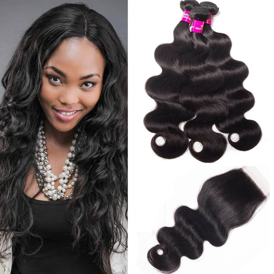Evan Hair Peruvian Body Wave Hair With Lace Closure 3