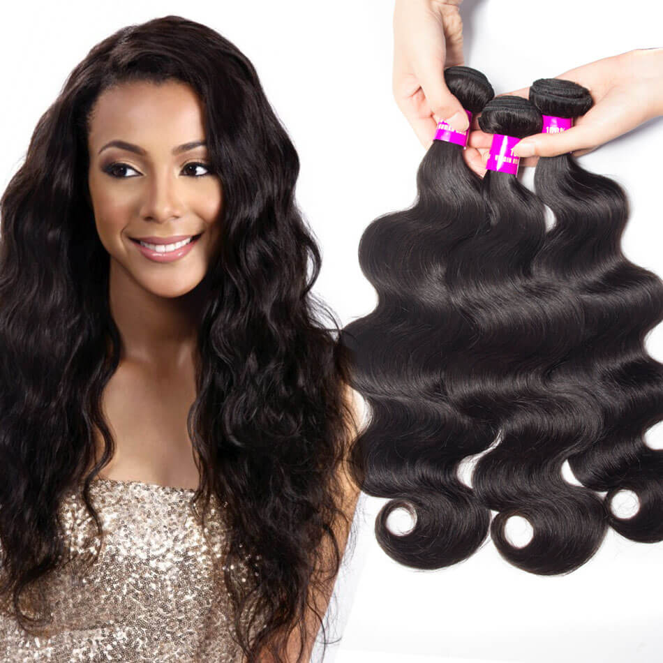 Evan hair body wave hair 3 Bundles