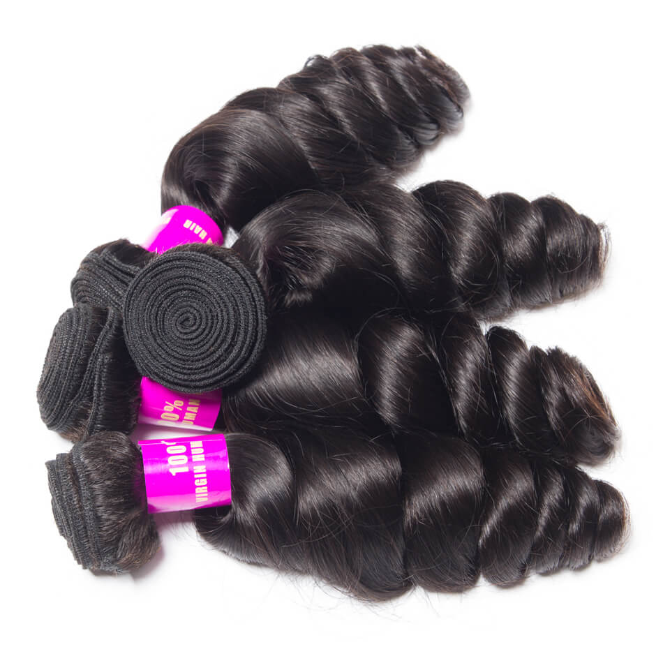 Evan hair loose wave 4 Bundles