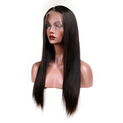 Evan Hair Lace frontal human Straight hair Wig