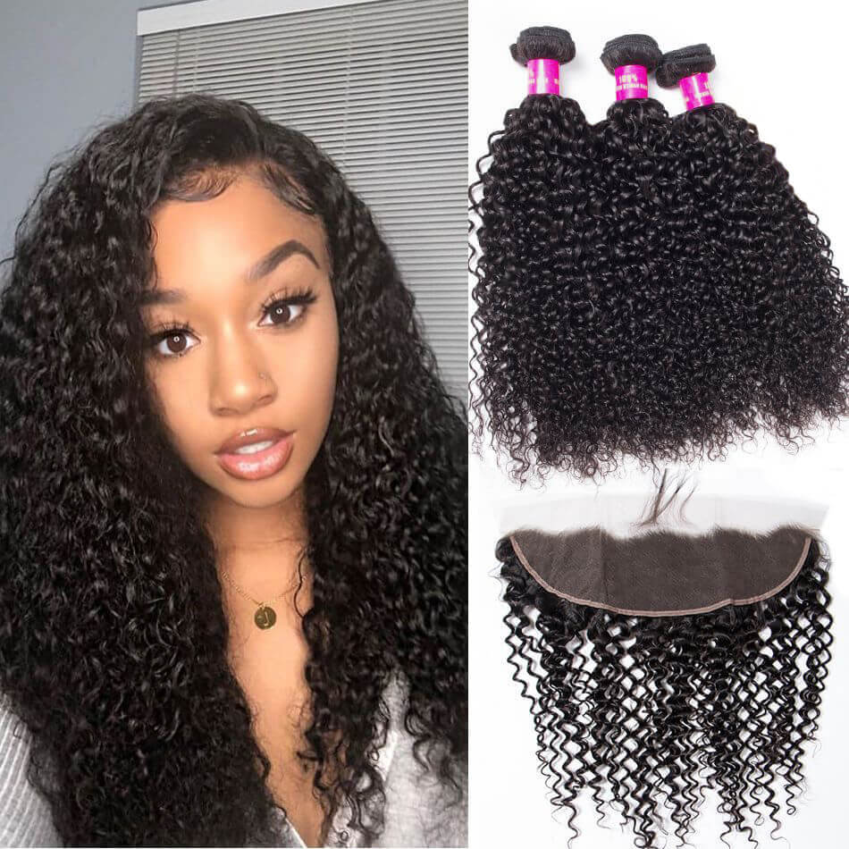cf29750d7 curly hair with frontal,cheap curly hair with frontal,Brazilian curly hair  with frontal