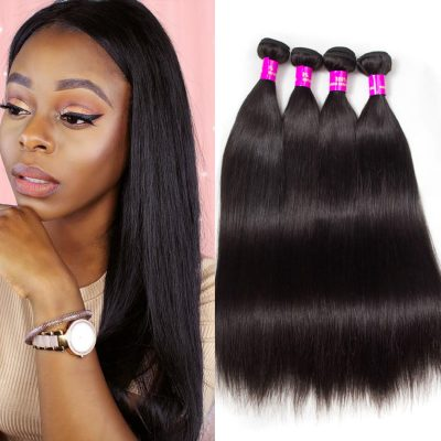 Evan Hair Peruvian Virgin Hair Straight Human Hair Weave 4 Bundles