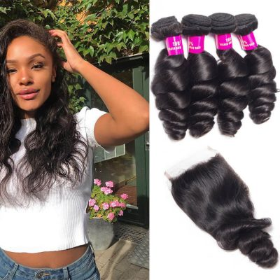 loose wave bundles closure,loose wave hair with Brazilian closure,Brazilian loose wave bundles closure,Brazilian loose wave bundles with closure,human hair Brazilian bundles with closure,loose wave bundles with closure,loose wave closure and bundles
