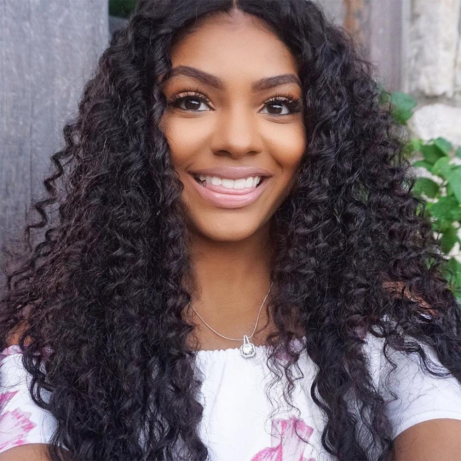 457e94bf0 curly hair bundles with closure,curly wave with closure,Peruvian curly hair  with closure