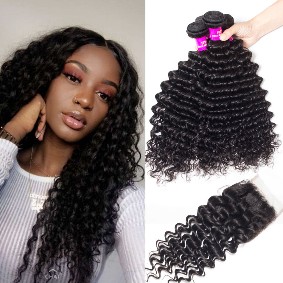 Evan-hair-Malaysian-deep-wave-4-bundles-with-closure