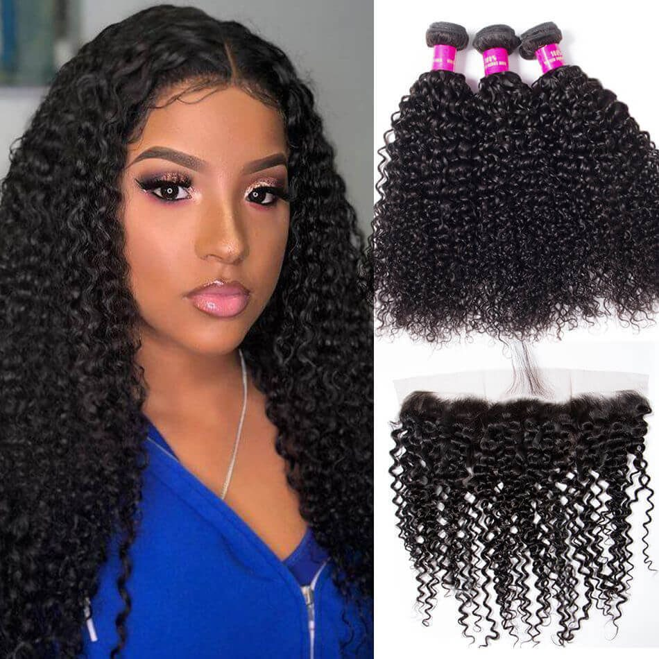 human hair afro bundles
