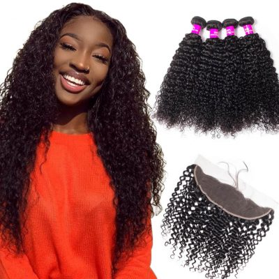 virgin human hair Indian curly wave with closure frontal,Indian curly human hair weave bundles with closure frontal,Indian curly wave bundles with frontal,curly hair weave bundles