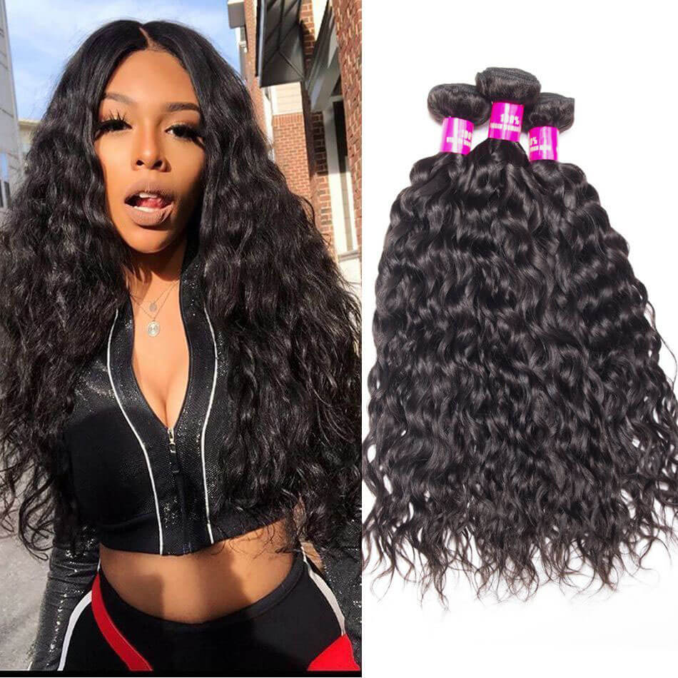 10A Grade Wet And Wavy Human Hair Weave 3