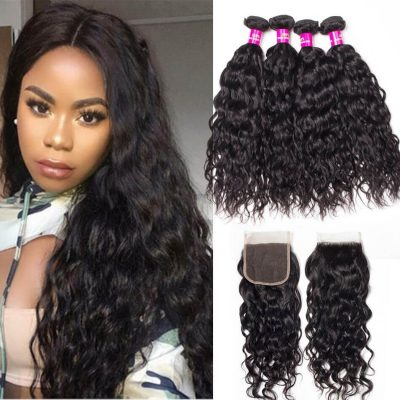 water wave bundles closure,water wave closure,water wave with closure,Brazilian water wave closure,Brazilian water wave bundles closure,water wave weave bundles closure,wet and wavy human hair with closure,wholesale water wave bundles with closure