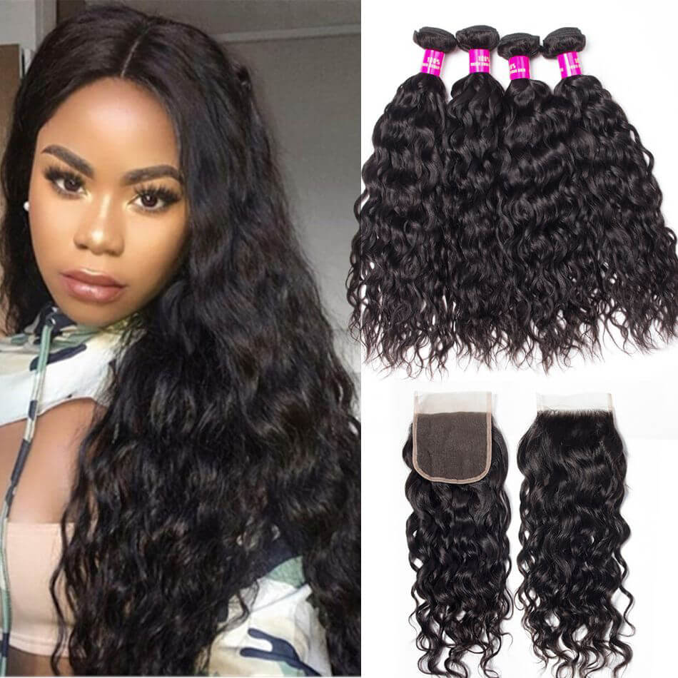 f48e040a4 water wave bundles closure,water wave closure,water wave with closure, Brazilian water · water wave hair ...