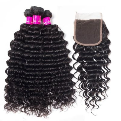 deep wave bundles closure,deep wave with closure,deep wave hair with Indian closure,cheap deep wave with closure,Indian deep wave bundles with closure,hair bundles deep wave with lace closure,deep lace closure with 3 bundles,deep wave bundles and closure