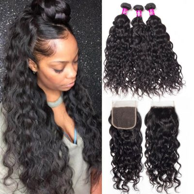Water Wave Bundles Closure,Water Wave Closure,Water Wave with Closure,Indian Water Wave Closure,Indian Water Wave Bundles Closure,Water Wave Weave Bundles Closure,wet and wavy human hair bundles with closure,wet and wavy human hair with closure
