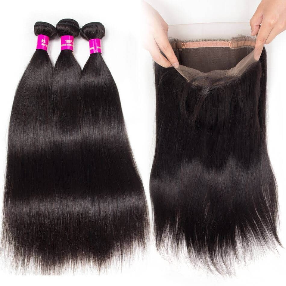Straight Hair 360 Frontal,360 frontal Straight Bundles,Straight Hair Bundles With 360 Frontal,Cheap Straight Bundles with 360 Frontal,Straight Hair 360 Frontal Near Me