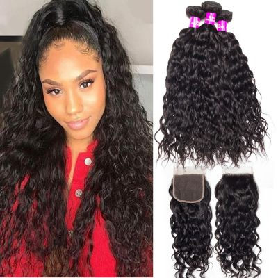 Water Wave Bundles Closure,Water Wave Closure,Water Wave with Closure,Brazilian Water Wave Closure,Branzilian Water