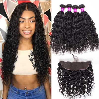 Indian water wave bundles frontal, wet and wavy hair with frontal,water wave frontal with bundles,best water wave bundles frontal,cheap water wave bundles frontal,water wave frontal near me,water wave with 13*4 frontal,wholesale water wave bundles frontal