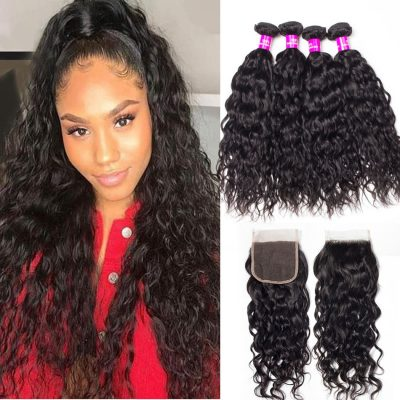 Malaysian water wave bundles closure,water wave bundles closure,water wave closure,water wave with closure,Malaysian water wave closure,Malaysian water wave bundles closure,water wave weave bundles closure,wet and wavy human hair with closure,wholesale water wave bundles with closure