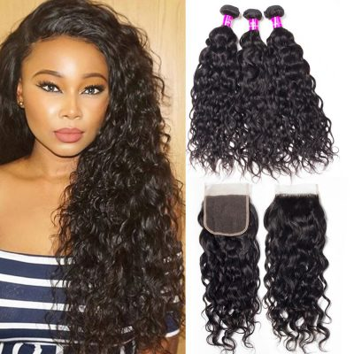 Water Wave Bundles Closure,wet and wavy human hair bundles with closure,wholesale water wave bundles with closure,Water Wave Closure,Water Wave with Closure,Malaysian Water Wave Closure,Water Wave Weave Bundles Closure