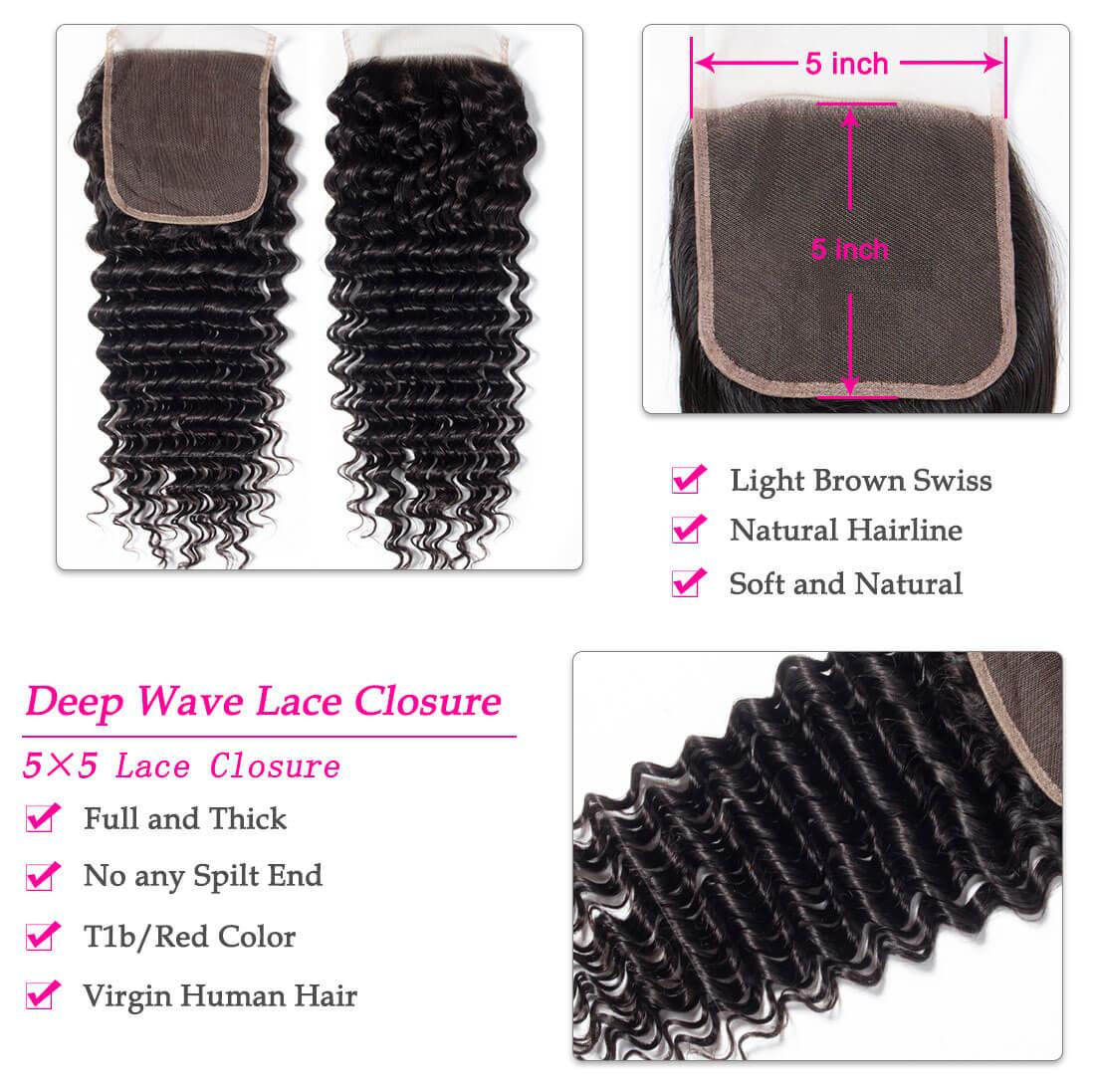 5×5 deep closure,5×5 deep hair closure,deep wave closure,5×5 lace closure,Brazilian deep wave closure,cheap deep wave closure,human deep wave closure,Remy deep wave closure,vigin deep wave closure