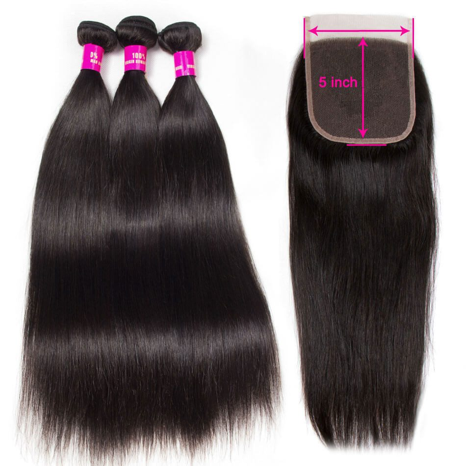 5x5 closure with bundles,5x5 lace closure straight,straight hair with 5x5 closure,bundles with 5x5 lace closure,5x5 closure with 3 bundles