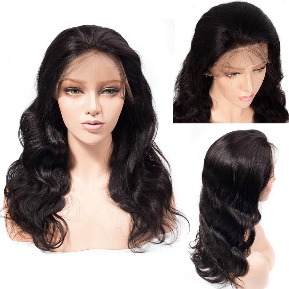 Body Wave Full Lace Wig 100 Virgin Human Hair Braziliani