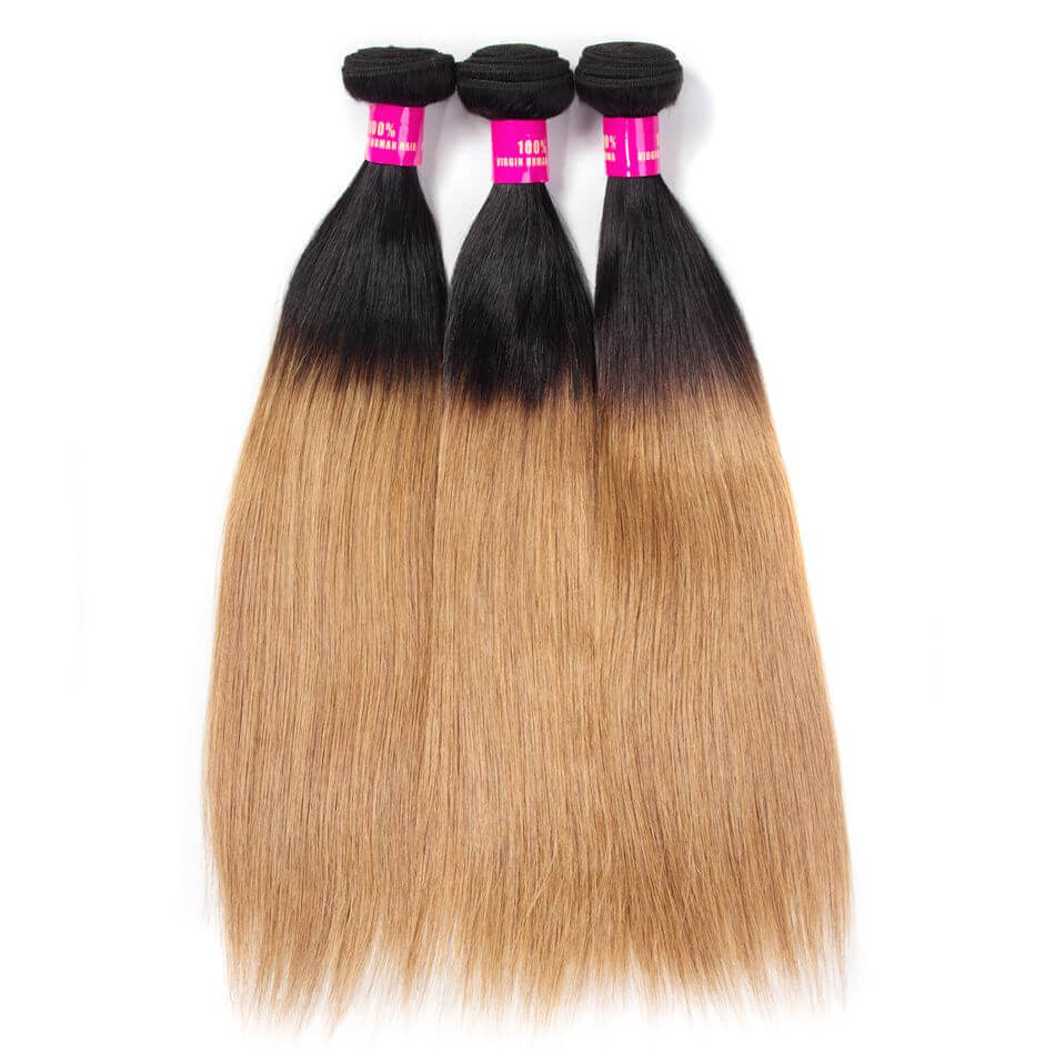 27 color hair,ombre straight hair,1b 27 straight hair,T1b 27 hair,T1b 27 straight hair,straight hair 27 color,honey blonde hair,brazilian straight hair T1b 27 color