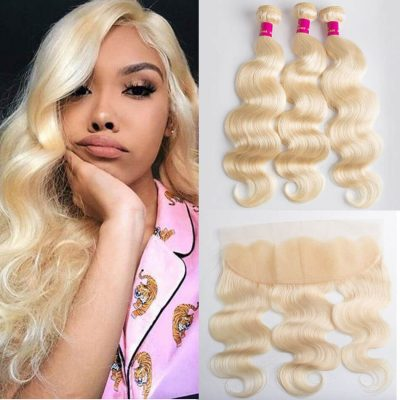 613 body wave with frontal,613 hair with frontal,blonde body wave with frontal,blonde hair bundles with frontal,blonde Brazilian bundles with frontal,613 hair bundles with frontal