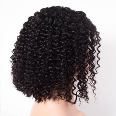 Short Bob Curly Wig Kinky Curly Hair Lace Front Human Hair Wigs Brazilian Kinky Curly Wig With Baby Hair For Sale Evan Hair