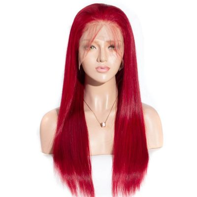 red straight front wig,13×6 red straight lace frontal wigs,13×6 red lace frontal wigs,red straight hair front wig,cheap red straight hair front wig