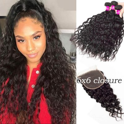 6x6 closure with water wave,6x6 closure with water bundles,6x6 lace closure water,water hair with 6x6 closure,bundles with 6x6 lace closure,6x6 closure and bundles
