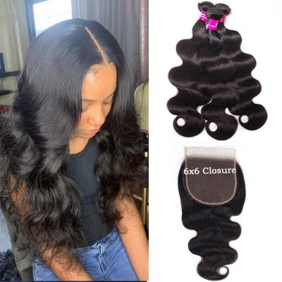 6x6 closure with body wave,6x6 closure with body bundles,6x6 lace closure body,body hair with 6x6 closure,bundles with 6x6 lace closure,6x6 closure and bundles