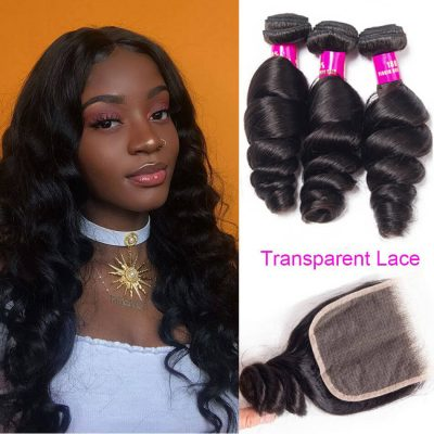 transparent closure loose wave,loose wave with transparent closure,transparent loose lace closure,transparent closure with loose wave,best transparent lace closure