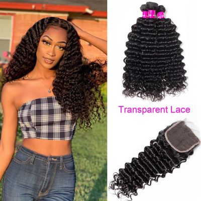 transparent closure water wave,water wave with transparent closure,transparent water lace closure,transparent closure with water wave,best transparent lace closure
