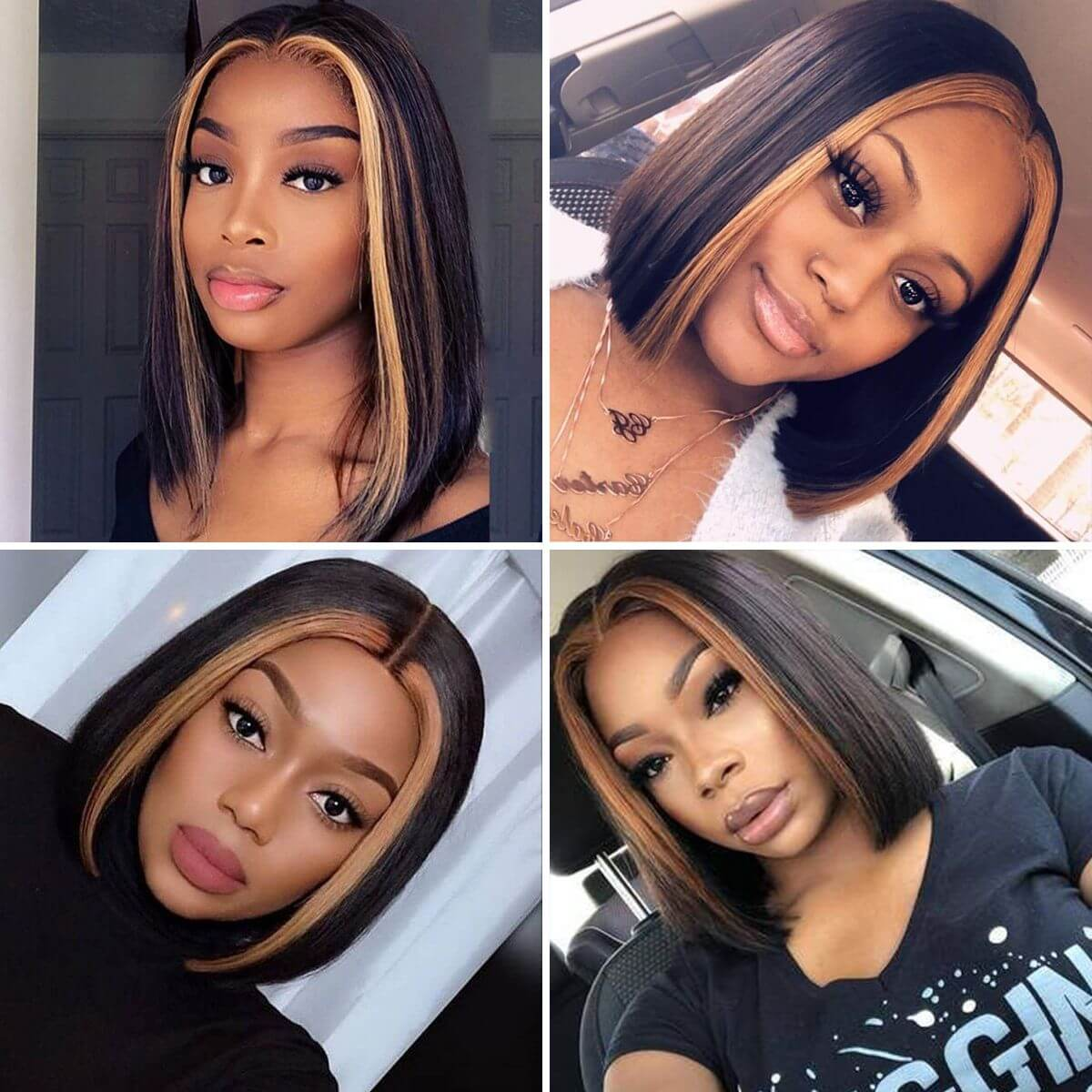 bob highlight wigs,short bob highlight wigs,short highlight bob wigs,highlight lace front wigs,highlight colort bob wig,ombre highlight bob wig