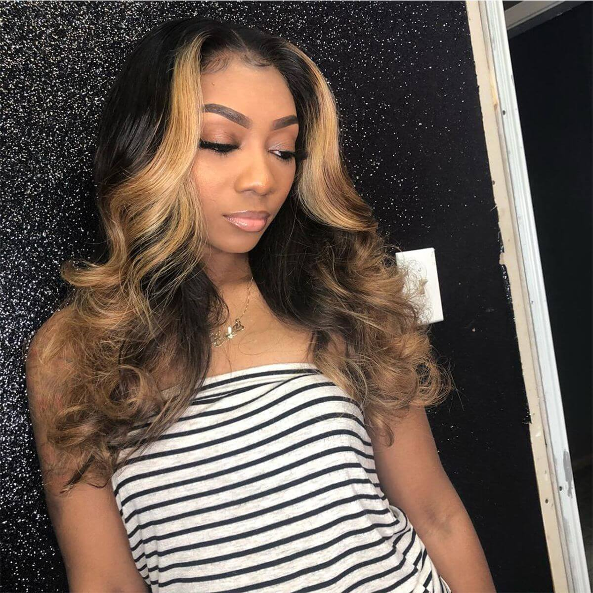 Ombre Body Wave Front Wig,1b 30 Body Front Wig,Ombre Body Front Wig,Highlighted Body Wave Lace Front Wigs,Ombre Brown Body Wave Wig,Ombre Body Wave Lace Front Wig,Cheap Ombre Brown Lace Front Wigs