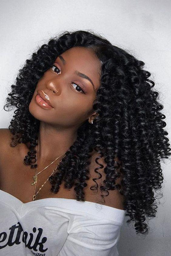 Kinky curly glueless wig