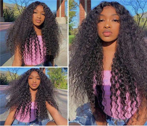Kinky curly closure wig