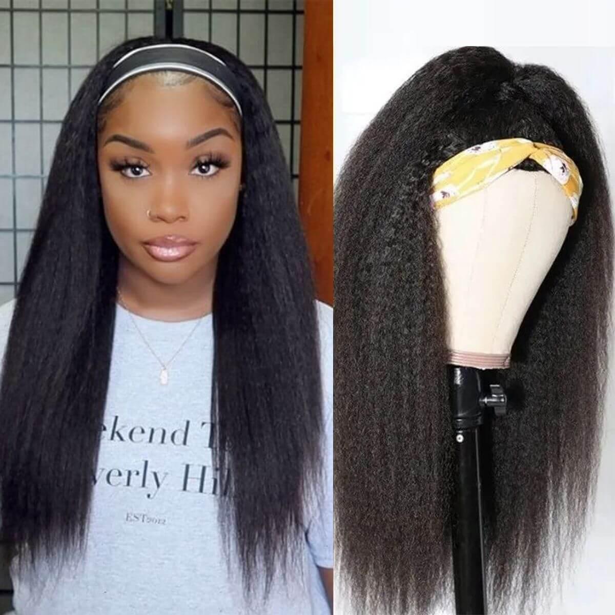 headbands wigs kinky straight,kinky straight headband wigs,kinky straight hair headband wig,best kinky straight headband wigs,cheap kinky straight headband wigs,full machine made wigs